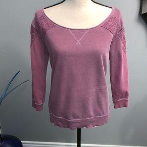 AEO Wide Neck Appliqué Sweatshirt G606